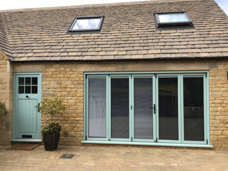 Bi-fold with intergrated blinds, Chipping Campden